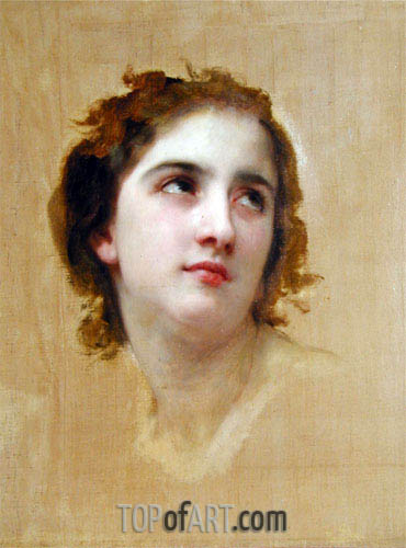 Sketch of a Young Woman, Undated | Bouguereau | Gemälde Reproduktion