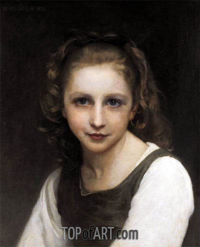 Portrait of a Young Girl, 1890 | Bouguereau | Painting Reproduction
