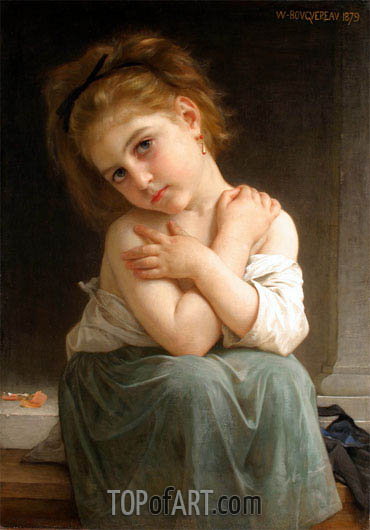 Chilly Girl (La frileuse), 1879 | Bouguereau | Painting Reproduction