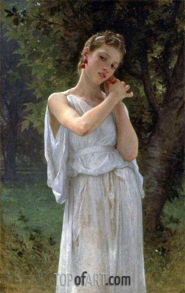 The Earrings (Boucles D'Oreilles), 1891 | Bouguereau | Gemälde Reproduktion