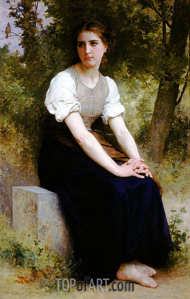 The Song of the Nightingale, 1895 | Bouguereau | Gemälde Reproduktion