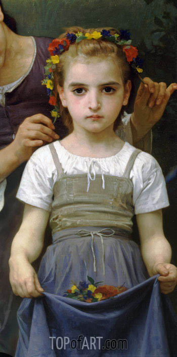 The Jewel of the Fields (Detail), 1884 | Bouguereau | Painting Reproduction