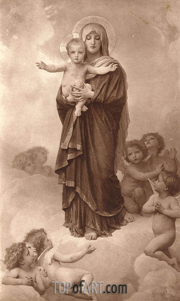 Our Lady of the Angels, 1889 | Bouguereau | Gemälde Reproduktion