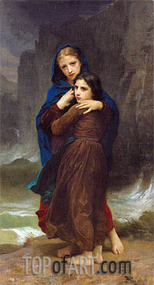 The Storm, Undated | Bouguereau | Painting Reproduction