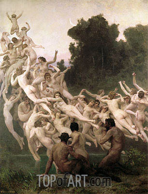 The Oreads, 1902 | Bouguereau | Painting Reproduction