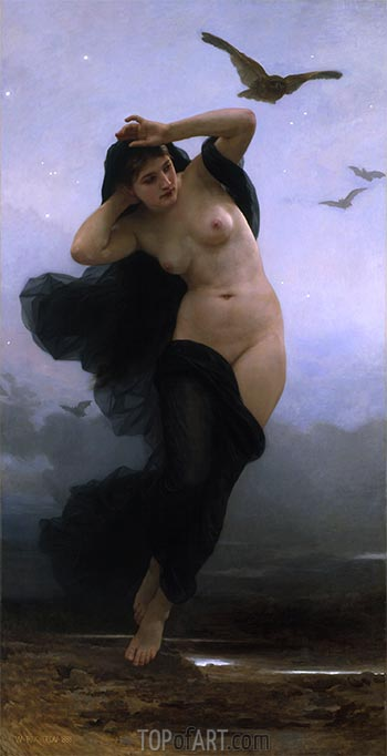 Night, 1883 | Bouguereau | Painting Reproduction
