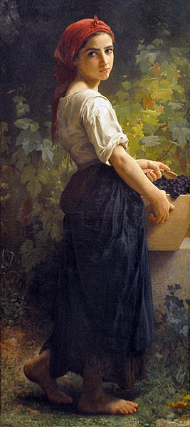 Girl with Grapes, 1874 | Bouguereau | Painting Reproduction