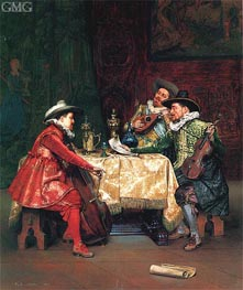 The Rehearsal, 1897 by Lesrel | Painting Reproduction