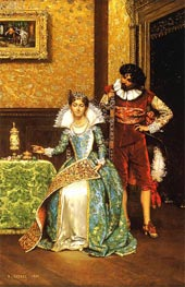 The Attentive Courtier | Lesrel | Painting Reproduction