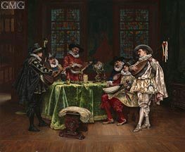 Interior with Troubadours, 1899 by Lesrel | Painting Reproduction