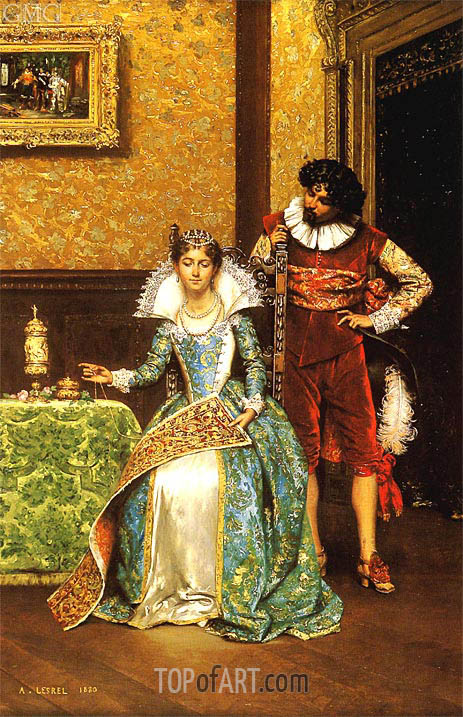 The Attentive Courtier, 1880 | Lesrel | Painting Reproduction