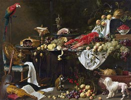 Banquet Still Life, 1644 by van Utrecht | Painting Reproduction