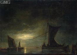 The Sea by Moonlight | Aelbert Cuyp | Gemälde Reproduktion
