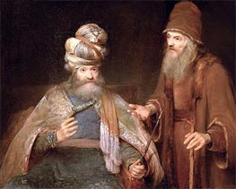 Nathan admonishes King David, 1683 by Aert de Gelder | Painting Reproduction