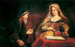 Esther and Mordechai, 1685 by Aert de Gelder | Painting Reproduction