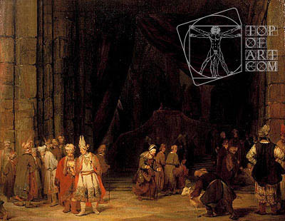 The Forecourt of the Temple, 1679 | Aert de Gelder | Painting Reproduction