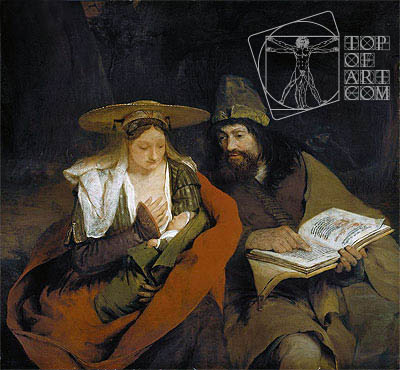 Rest on the Flight into Egypt, c.1690 | Aert de Gelder | Painting Reproduction