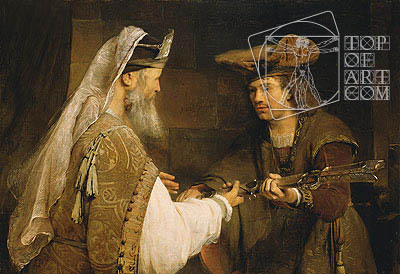 Ahimelech Giving the Sword of Goliath to David, c.1680 | Aert de Gelder | Painting Reproduction