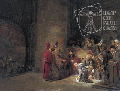 Christ and the Woman taken in Adultery, 1683 | Aert de Gelder | Painting Reproduction