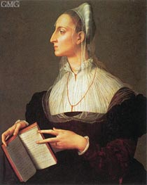 Portrait of Laura Battiferri, c.1555/60 von Bronzino | Gemälde-Reproduktion