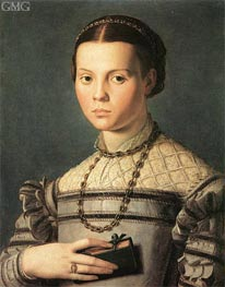Portrait of a Young Girl, c.1541/45 by Bronzino | Painting Reproduction