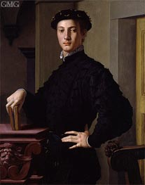 Portrait of a Young Man, c.1540 by Bronzino | Painting Reproduction