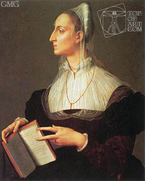 Portrait of Laura Battiferri, c.1555/60 | Bronzino | Painting Reproduction