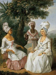 Creole Woman and Servants | Agostino Brunias | Painting Reproduction
