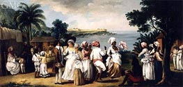 West Indian Village with Figures Dancing, undated by Agostino Brunias | Painting Reproduction