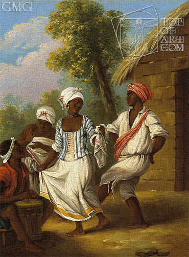 The Handkerchief Dance, c.1770/80 | Agostino Brunias | Painting Reproduction