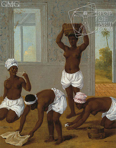 Caribbean Indian Woman in an Interior, St. Vincent, c.1770/80 | Agostino Brunias | Painting Reproduction