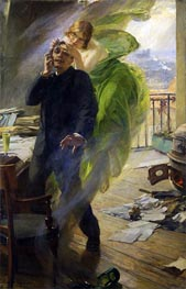 Green Muse, 1895 by Albert Maignan | Painting Reproduction