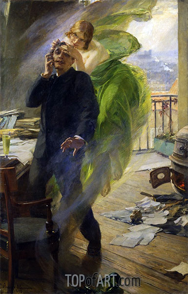 Green Muse, 1895 | Albert Maignan | Painting Reproduction