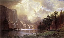 Among the Sierra Nevada Mountains, California, 1868 von Bierstadt | Gemälde-Reproduktion