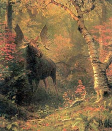 Moose, After 1880 by Bierstadt | Painting Reproduction