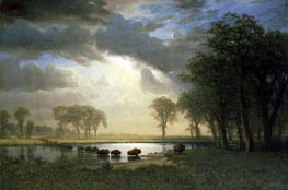 The Buffalo Trail | Bierstadt | Gemälde Reproduktion