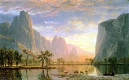 Valley of the Yosemite, 1864 by Bierstadt | Painting Reproduction