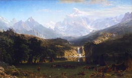 The Rocky Mountains, Lander's Peak | Bierstadt | Gemälde Reproduktion