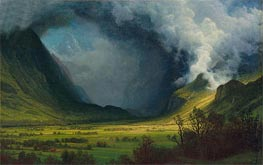 Storm in the Mountains, c.1870 von Bierstadt | Gemälde-Reproduktion