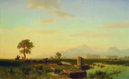 Ruins of Paestum | Bierstadt | Painting Reproduction