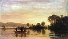 River Scene | Bierstadt | Painting Reproduction