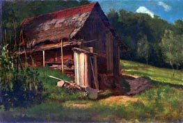Swiss Mountain Cabin, c.1872 by Bierstadt | Painting Reproduction