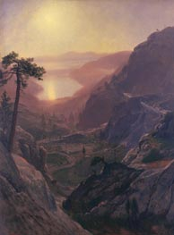 View of Donner Lake, California, c.1871/72 by Bierstadt | Painting Reproduction