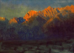 Sunrise in the Sierras, c.1872 by Bierstadt | Painting Reproduction