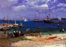 Nassau Harbor, c.1877 by Bierstadt | Painting Reproduction