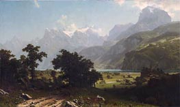 Lake Lucerne, 1858 by Bierstadt | Painting Reproduction