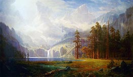 Mount Whitney - Grandeur of the Rockies, c.1877 von Bierstadt | Gemälde-Reproduktion