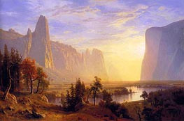 Yosemite Valley, 1868 by Bierstadt | Painting Reproduction