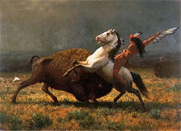 The Last of the Buffalo | Bierstadt | Painting Reproduction