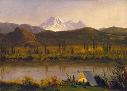Mt. Baker, Washington, From the Frazier River | Bierstadt | Gemälde Reproduktion